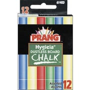 "Dixon Ticonderoga Prang Hygieia 3 1/4"" Dustless Board Chalk, Assorted, 180/Pack (DIX61400)"