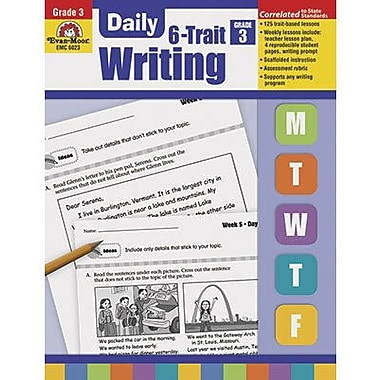 Evan-moor® Daily 6 Trait Writing Book, Grades 3rd