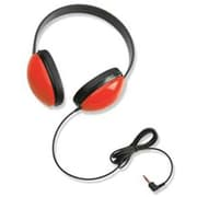 Califone CAF2800RD Listening First Stereo On-Ear Headphone, Red
