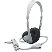 Califone Translucent Multimedia Stereo On-Ear Headphone, Silver (CAF3060AV)