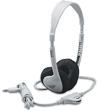 Califone Translucent Multimedia Stereo On-Ear Headphone, Silver (CAF3060AV)