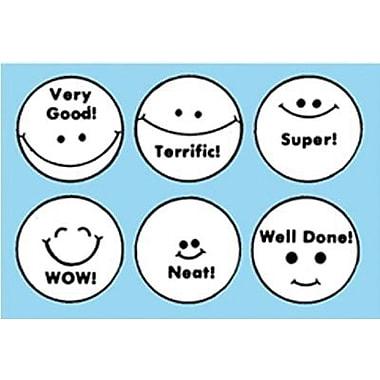 Center Enterprises – Tampons de notation, visages souriants (CE-601)
