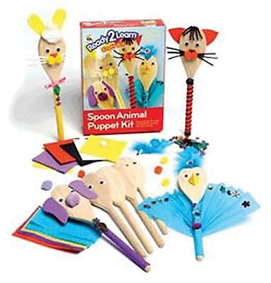 Center Enterprises® Ready2Learn Craft Kit, Wood Spoon Animal Puppet
