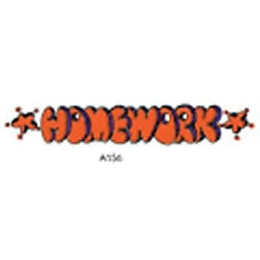 Center Enterprises® Sweet-Arts Artistic Rubber Stamp, Homework (CE-A156)