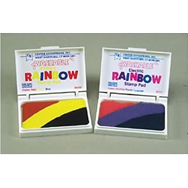Center Enterprises Rainbow Electric Washable Stamp Pad, Assorted (CE-SA531)