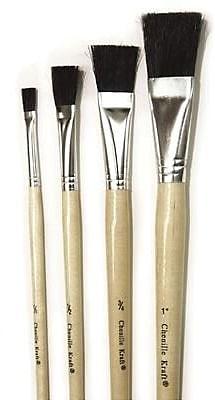 Chenille Craft® Tempera Brush Set, Black Bristle