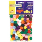 Chenille Craft® Pom Pons, Bright Hues