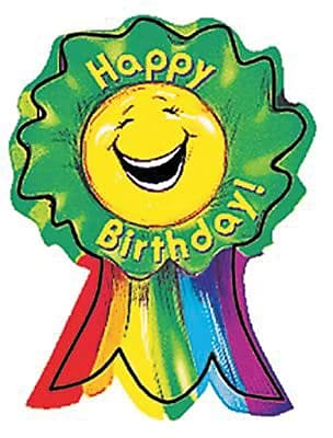Happy Birthday Award Ribbon, 36/PK, 4 PK/BD