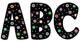 Poppin' Patterns Dots On Black Designer 7