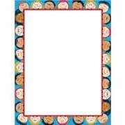 "Creative Teaching Press Smiling Stick Kids Computer Paper 11"" x 8.5"", Blue/White (CTP1436)"