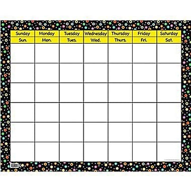 Creative Teaching Press, Dots On Black Calendar Chart, Large