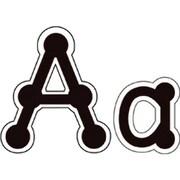 Creative Teaching Press - Ensemble de lettres noires en points à relier, lettres majuscules, 294/paquet (CTP1889)