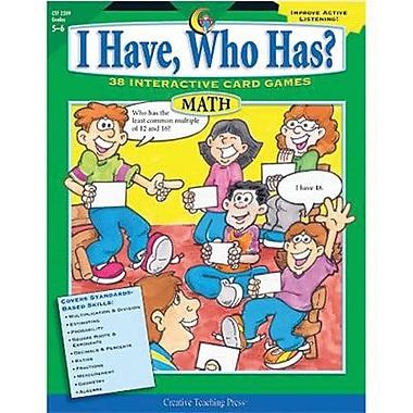Creative Teaching Press I Have, Who Has? Math Activity Book, Grades 5th - 6th