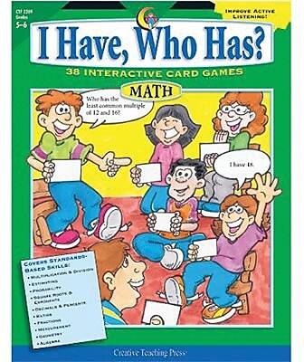 I Have, Who Has? Math, Grades 5-6