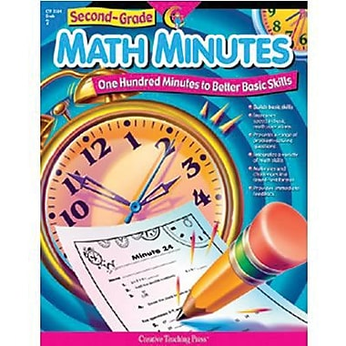 Creative Teaching Press Math Minutes Book, Grades 2nd
