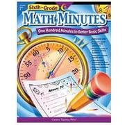 Creative Teaching Press Math Minutes Book, Grades 6th
