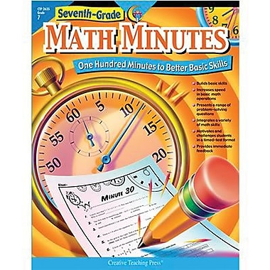 Creative Teaching Press Math Minutes Book, Grades 7th