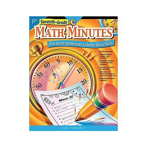 Creative Teaching Press Math Minutes Book Grades 7th Staples