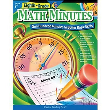 Creative Teaching Press Math Minutes Book, Grade 8 (CTP2636)