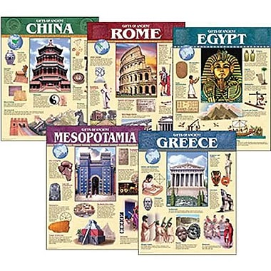 Creative Teaching Press Ancient Civilization Chart, 5/Pack (CTP5557)