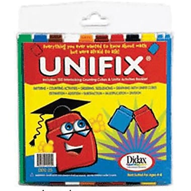 Didax Unifix Cube, Grades Kindergarten - 6th, 100/Set, 200/Pack (DD-225)