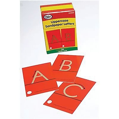 Lettre tactile papier sablé DidaxMD, majuscule