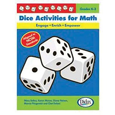 Didax® Dice Activities Resource Book For Math, Grades Kindergarten - 3rd