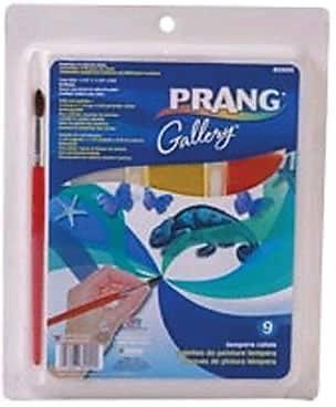 Prang® (Dixon Ticonderoga®) Tempera Paint Cake Set, 9-Color Set with Brush