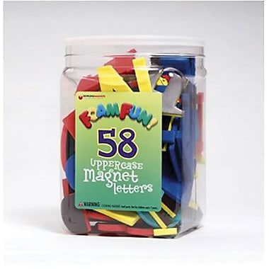 Dowling Magnets Foam Fun Magnet, Uppercase Letters, 58/Pack (DO-733100)
