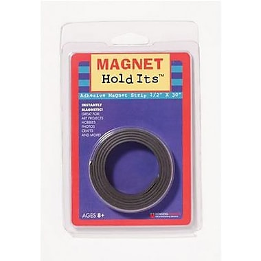 Dowling Magnets - Bande aimantée adhésive, 1/2 x 10 po, 15/paquet (DO-735002)