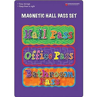 Dowling Magnets Magnetic Hall Pass Set, 6/Pack (DO-735204)