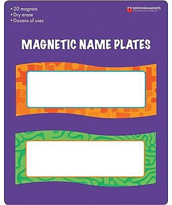 Magnetic Name Plates, 6