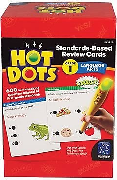 Hot Dots® Standards-Based Language Arts Cards, Grades 1 (2510)