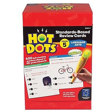 Educational Insights® Hot Dots® Standards-Based Language Arts Card, Grades 5th