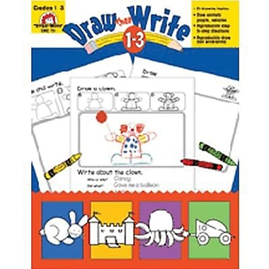 Evan-Moor® Draw Then Write Resource Book, Grade 1 - 3 (EMC731)