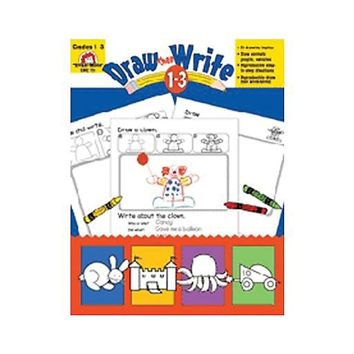 Evan-Moor® Draw Then Write Resource Book, Grades 1st - 3rd