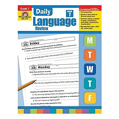 Evan-Moor Daily Language Review Teacher's Edition Book, Grade 7 (EMC2797)