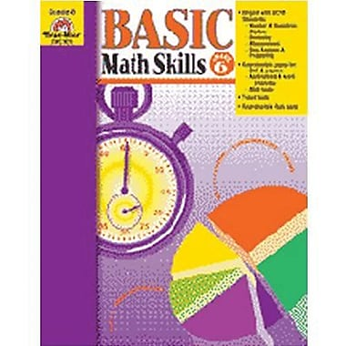 Evan-Moor Basic Math Skills Book, Grade 6 (EMC3019)