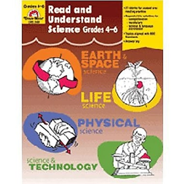 Evan-Moor Read And Understand Science Teacher Resource Book, Grade 4 - 6 (EMC3305)