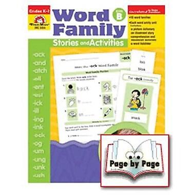 Evan-Moor® Word Family Story/Activity Teacher Resource Book, Level B, Grades Kindergarten -2nd