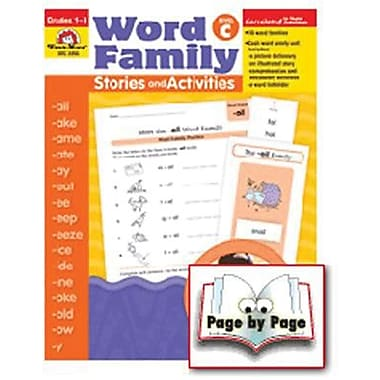 Evan-Moor® Word Family Story/Activity Teacher Resource Book, Level C Grades 1st -3rd