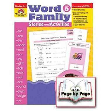 Evan-Moor® Word Family Story/Activity Teacher Resource Book, Level D, Grades 1st -3rd