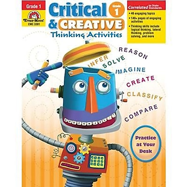 Evan-Moor® Critical and Creative Thinking Activities Teacher Resource Book, Grades 1