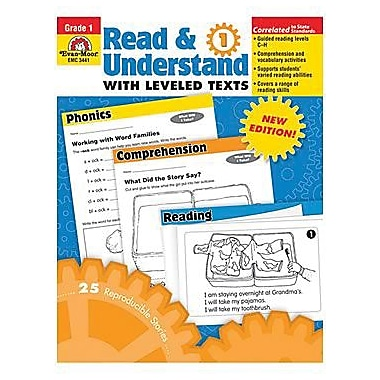Evan-Moor Read And Understand with Leveled Texts Teacher Resource Book, Grade 1 (EMC3441)
