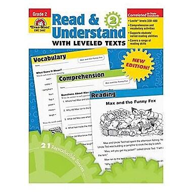 Evan-Moor – Livre de ressources pour l'enseignant « Read And Understand with Leveled Texts », 2e année (EMC3442)