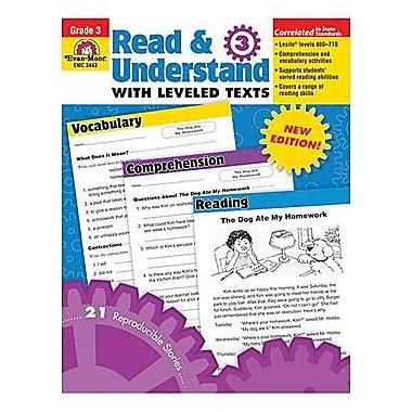 Evan-Moor Read And Understand with Leveled Texts Teacher Resource Book, Grade 3 (EMC3443)