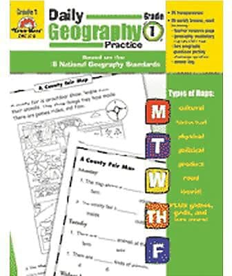 Daily Geography Practice Resource Book, Grade 1