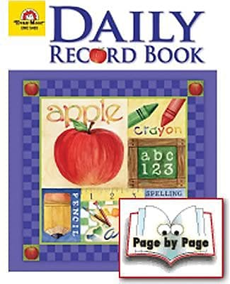 School Days, Daily Record Book, 96 pages