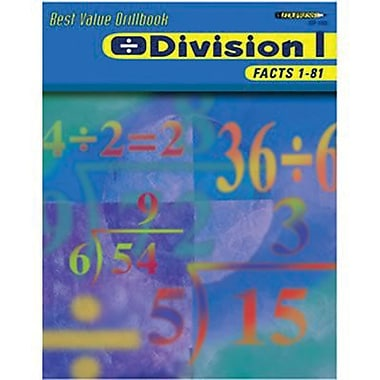 Edupress® Best Value Division I -Facts 1-81 Drill Book, Grades 2nd -6th