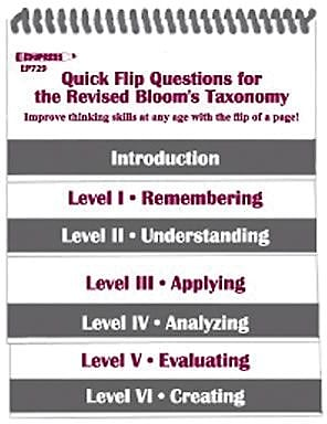 Edupress™ Quick Flip Questions For The Revised Blooms Taxonomy, 5
